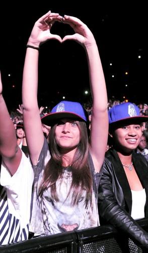 Paris at Chris Brown's konsert 10/20/2011.