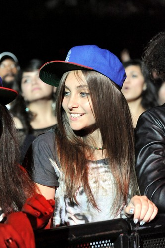 Paris at Chris Brown's Concert 10/20/2011.