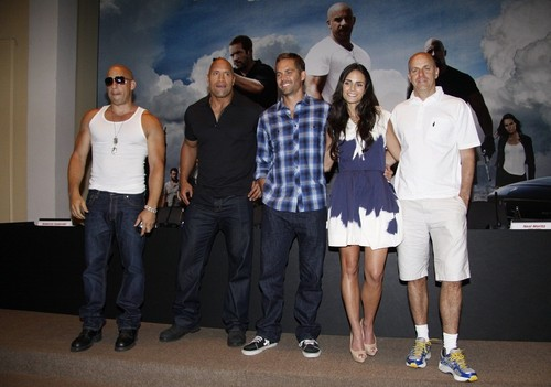 Paul - Fast Five Press Conference at the Copacabana Palace Hotel in RJ, Apr 13, 2011