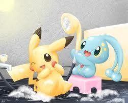 Pikachu and Manaphy
