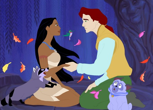 Pocahontas, John Rolfe, and Grandmother Willow