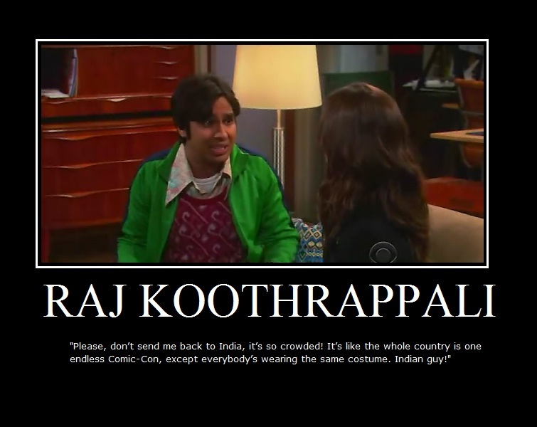 The Big Bang Theory Raj Koothrappali