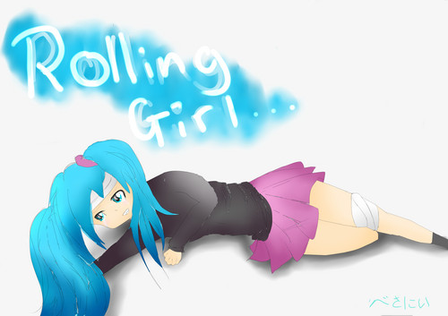 Rolling girl oleh CaptainBeth