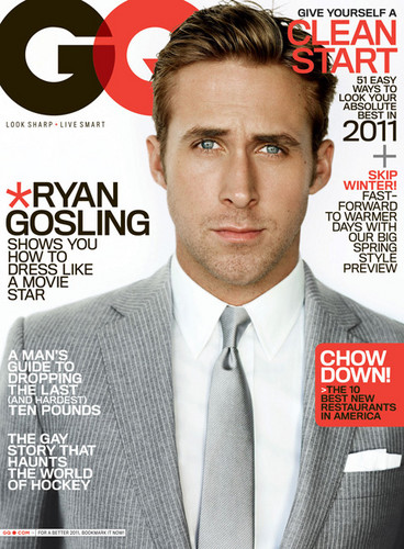 Ryan শিশু-হংসী GQ magazine 2011 cover