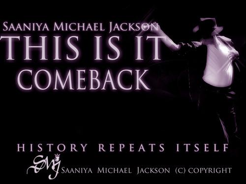 Saaniya Michael Jackson THIS IS IT COMEBACK 壁纸