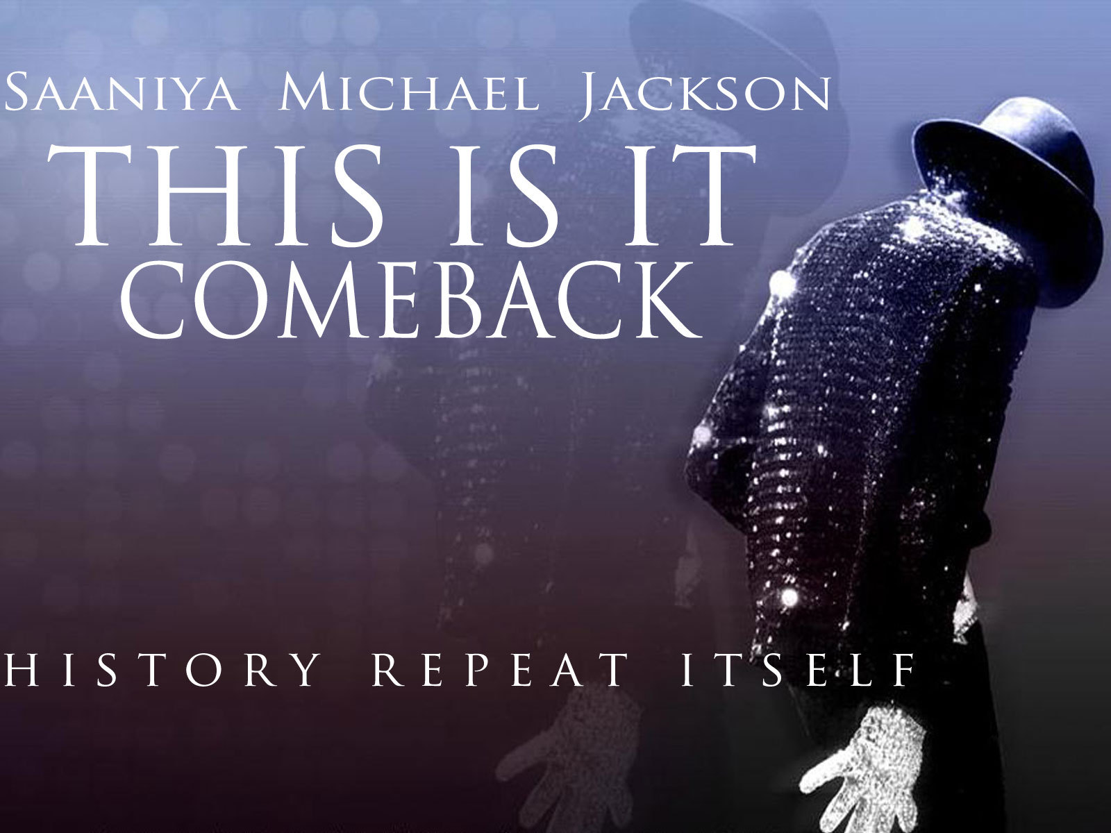 saaniya michael jackson this is it comeback wallpapers