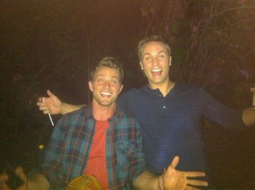 Scott Porter & Wilson Bethel BTS - hart-of-dixie Photo