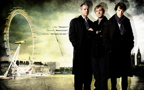 Sherlock in der BBC Hintergrund with a business suit, a well dressed person, and a suit entitled Sherlock