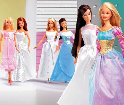 Some other Barbie dolls with BM's dresses!