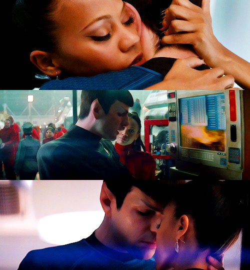 uhura and spock intimate relationship