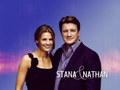 Stana & Nathan  - nathan-fillion-and-stana-katic wallpaper