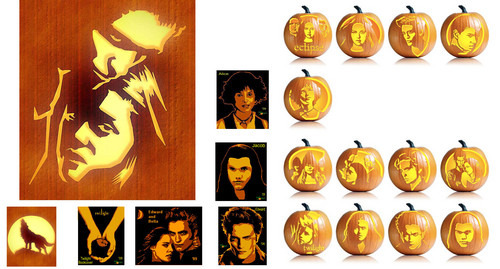 Twilight Saga Hallween pumpkin drawings