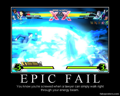 Ultimate Marvel Vs. Capcom 3 - Epic Fail