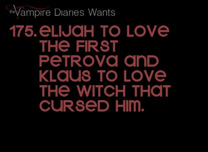 Vampire Diaries Wants