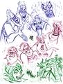 Walt Disney Fan Art - Disney Villains Sketch