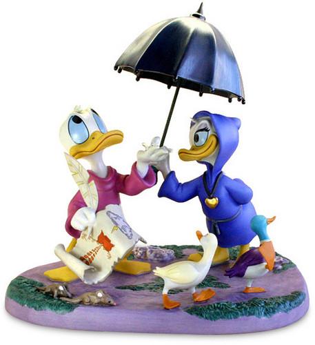 Walt 디즈니 Figurines - Donald 오리 & 데이지 오리