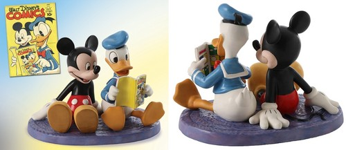 Walt Disney Figurines - Mickey Mouse & Donald Duck