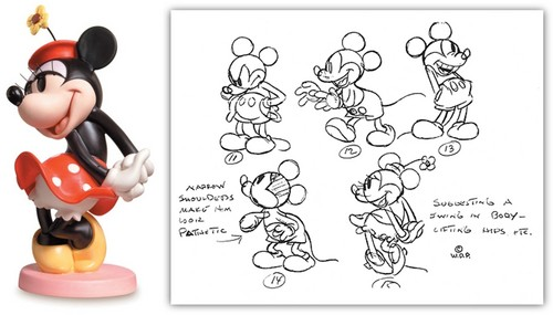 Walt Disney Figurines - Minnie topo, mouse