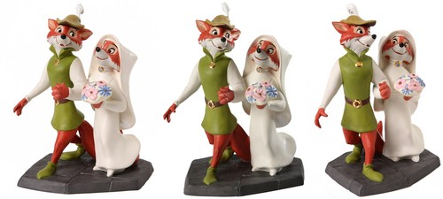 Walt 迪士尼 Figurines - Robin 兜帽, 罩, 发动机罩 & Maid Marian