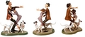 Walt Disney Figurines - Roger Radcliffe, Anita Radcliffe, Pongo & Perdita