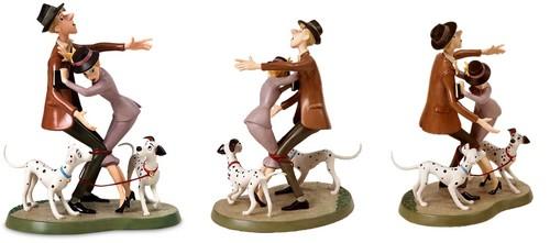 Walt ডিজনি Figurines - Roger Radcliffe, Anita Radcliffe, Pongo & Perdita