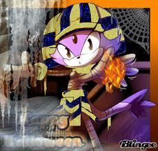SONIC GIRLS karatasi la kupamba ukuta containing anime entitled Halloween blaze the cat!