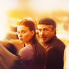 Game of Thrones photo possibly with a fire and a portrait titled sansa&littlefinger