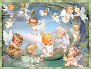 Angels wallpaper probably containing anime titled sweet baby angels