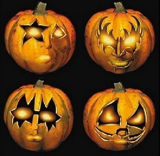 Halloween wallpaper possibly containing a jack o' lantern called ☆ KISS Halloween pumpkins ☆