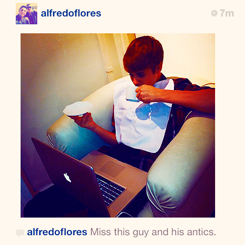 """""""Miss this guy and his antics""""-Alfredo Flores"""