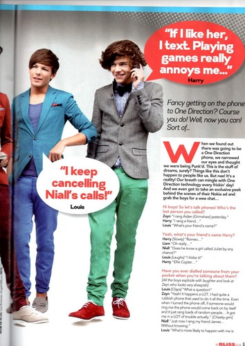 1D in 'Bliss' magazine ♥