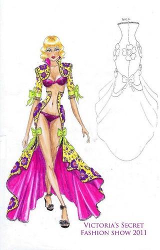 2011 Victoria's Secret Fashion Show Sketches