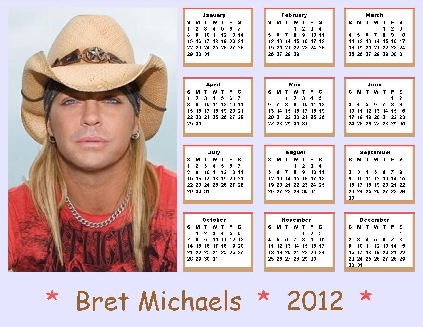 Bret Michaels images 2012 Bret Michaels Calendar HD wallpaper and