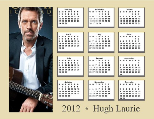 2012 Hugh Laurie Calendar