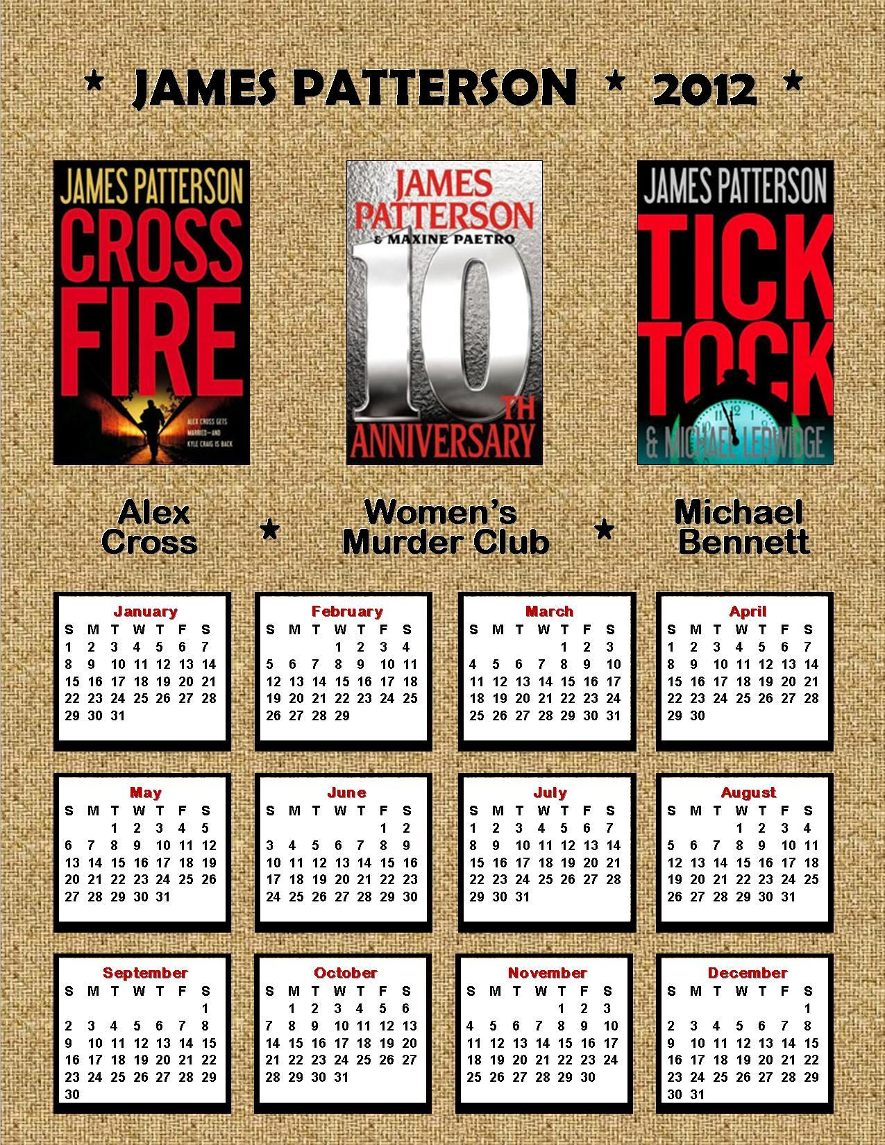 2012 James Patterson Calendar