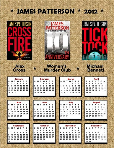 James Patterson wallpaper probably containing a sign called 2012 James Patterson Calendar