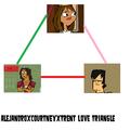 AleTrentney Love Triangle - total-drama-island fan art