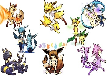 Eevee Evolutions Clan fondo de pantalla entitled anime