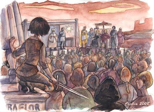 Arya Stark wallpaper probably with anime titled Arya (Baelor)