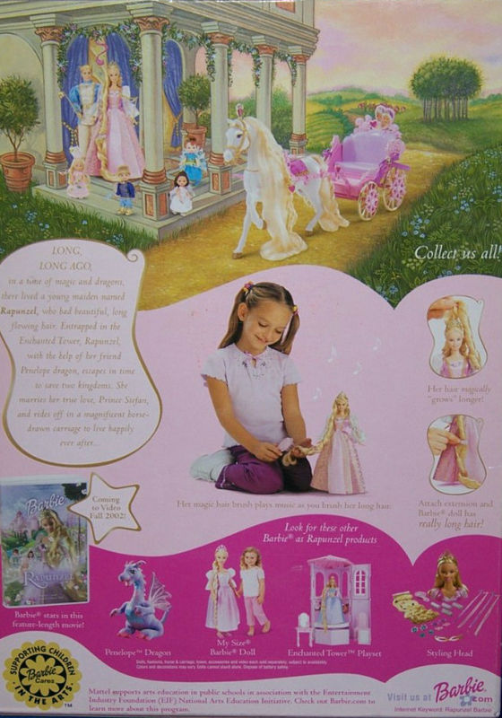 Back cover of Rapunzel doll