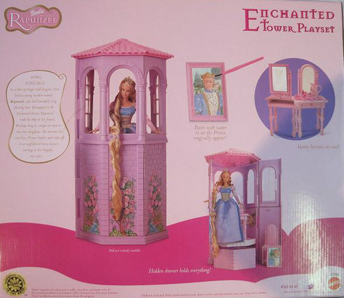 芭比娃娃 as Rapunzel - tower playset