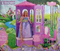 búp bê barbie as Rapunzel - tower playset