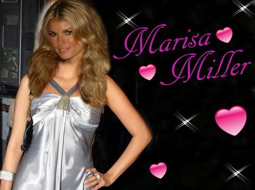 Beautiful Marisa Miller in silver
