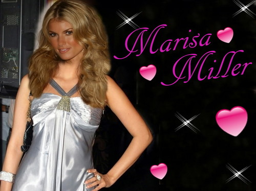 Beautiful Marisa Miller in silver