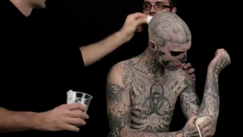 Rick Genest wallpaper called Beyond The Cover Ad screencaps