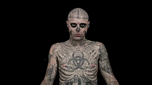 Beyond The Cover Ad screencaps - rick-genest Screencap