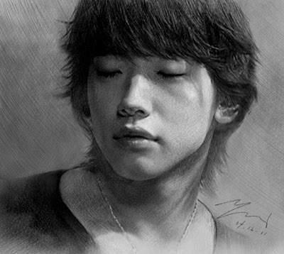 Bi Rain drawing
