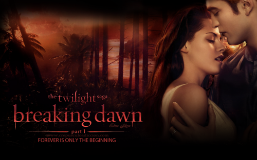 edward e bella wallpaper called Breaking Dawn wallpaper