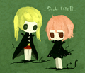 Chibi Maka and Crona