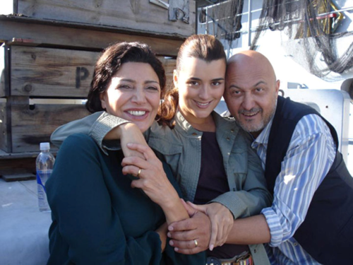 Cote with Shohreh Aghdashloo and David Diaan
